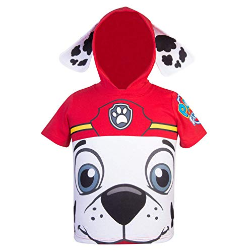Nickelodeon PAW Patrol Hooded Shirt: Chase, Marshall, Rocky, Rubble, Zuma - Boys (Red Marshall, 3T)