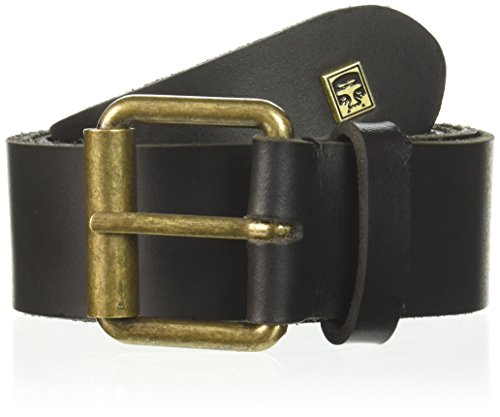 Antique Gold Leather - Obey Men's Vandal Leather Belt, black, Medium