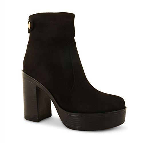 Footwear Sensation - Botas para mujer - PD6-Black Suede