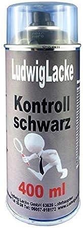 Kontrollschwarz Kontrollfarbe Schwarz Matt Spraydose Autolack Qualität 400ml Auto