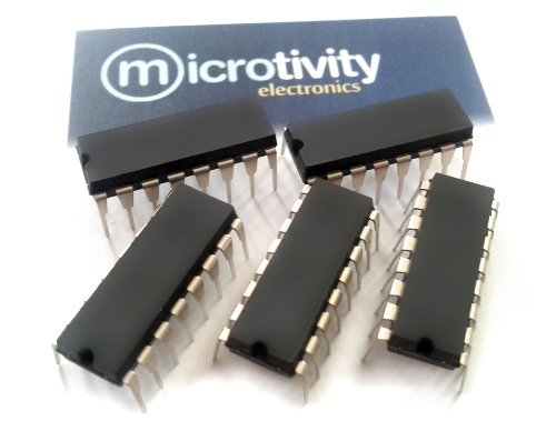 microtivity Pack of 5 74HC595 8-bit Shift Register w/ 3-State Output ICS