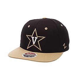 Zephyr Ncaa Vanderbilt Commodores Men's Z11 Snapback Hat, Adjustable Size, Team Color