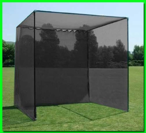 Dura-Pro Golf Cage with Screen Net, High Velocity Strong Impact Netting to Catch Balls, Double Back Stop and Target. All Weather Commercial Quality Materials (10x10x10 Feet) by Dura-Pro Golf Cages