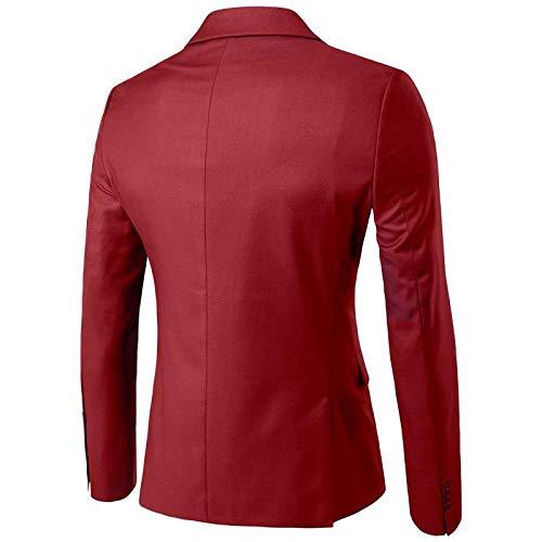 Hombre Chaleco Suit Traje De Para Piezas Pantalones Global Oscuro Hombre Al Occidental Tt 3 Estilo Con Y Rojo Chaqueta qnS0RwCP
