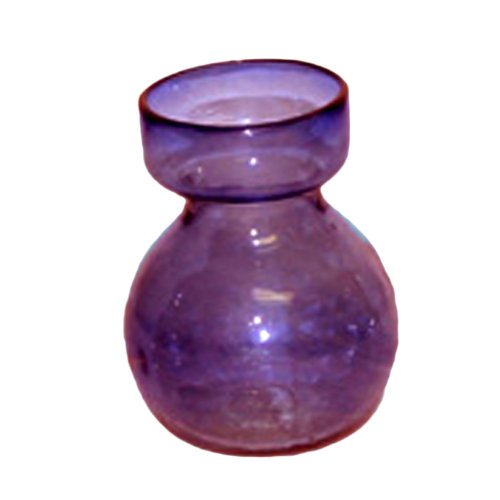 HomArt Recycled Glass Bulb Vase, Amethyst, 1-Count