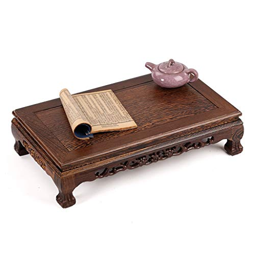 (Coffee Tables Bay Window Rectangular Tea Table Chinese Mahogany Tatami Table Floor Table Low Table Pedestal Tables (Color : Brown, Size : 40.52411.5cm) )