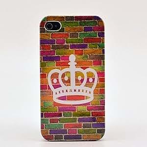 Conseguir Caso de la piel duro Crown pared para el iPhone 4/4S