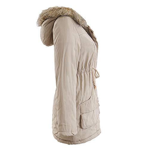 Ashop Impermeable Grande Chaquetas Invierno 2019 Perro Mujer Capucha Para Con Caqui De Algodón Outwear Mujer Abrigo Ropa rxAqSr