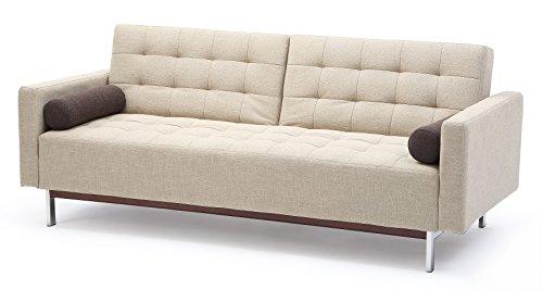 At Home USA – Bonaventura Beige Sofa Sleeper