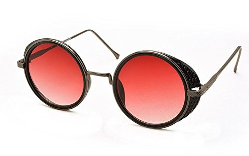 Stacle Women's Steampunk Side Shield Round Sunglasses Black - Sunglasses Side With Shades
