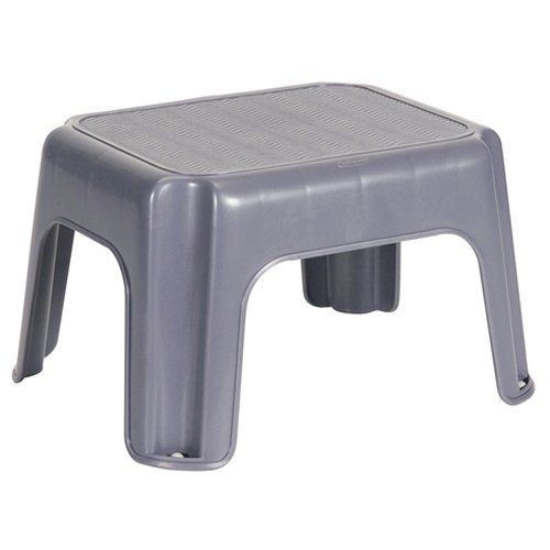 Rubbermaid Small Step Stool - 12.2x10x7.1 in 31.1x 25.4x18.1 cm,gray