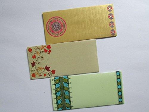 Arva Premium Quality Shagun Gift Money Envelopes (Pack of 12) - Assorted Color & Designs - Money Holder Card Christmas Eid Diwali Holi Easter Birthday Wedding Anniversary Baby Shower Rakhi
