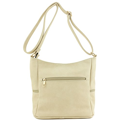 Bucket Zipper Crossbody Bag Sand Tassel A61xw5q5p