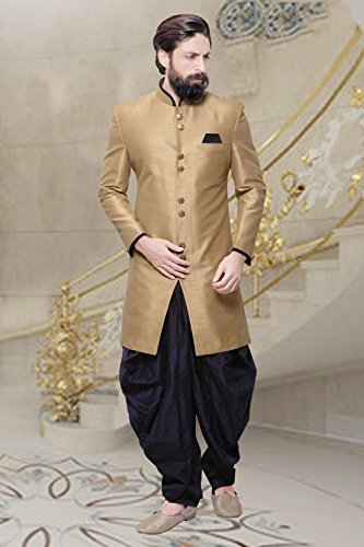 PinkCityCreations Indian Sherwani For Men Readymade Designer Partywear For Wedding Exclusive Fashion Indo-Western Dress by PinkCityCreations (Image #2)