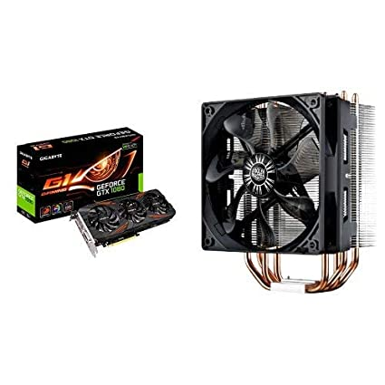 Gigabyte GeForce GTX 1080 G1 Gaming 8G and Cooler Master Hyper  RR-212E-20PK-R2 LED CPU Cooler with PWM Fan, Four Direct Contact Heat Pipes