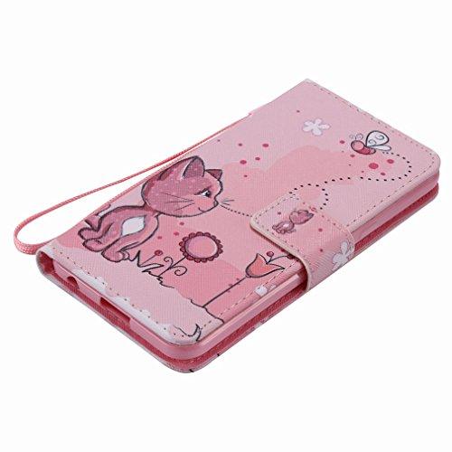 Yiizy LG X Power K220DS K220 Funda, Coño De Color Rosa Diseño Solapa Flip Billetera Carcasa Tapa Estuches Premium PU Cuero Cover Cáscara Bumper Protector Slim Piel Shell Case Stand Ranura para Tarjeta