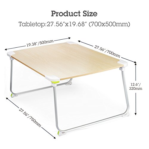 Large Space Sturdy Floor Table Foldable Bed Laptop Desk Portable
