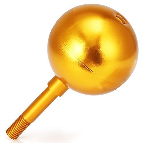 Flagpole Ball Top Ornament Aluminum Anodized Finish, 3-Inch (Gold Ball Flagpole Ornament)