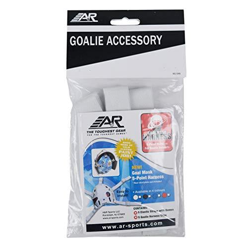 A&R Sports Hockey Goalie Helmet 5-Point Open Back Mask Harness - White Straps