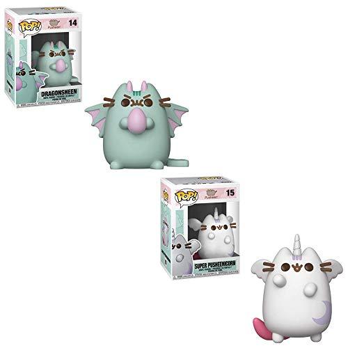 Funko POP! Pusheen: Dragonsheen and Super Pusheen Toy Action Figures - 2 POP Bundle -