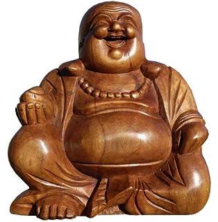 Buddha Mönch Yogi man Mann Holz Figur Meditation Feng Shui Yoga