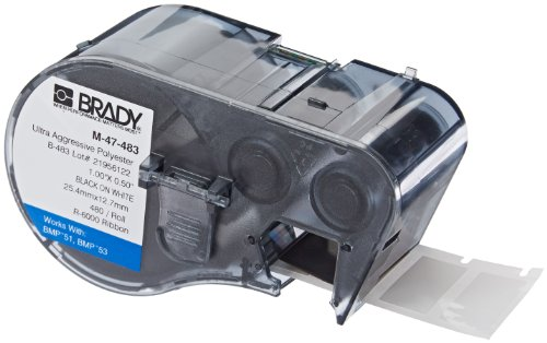 Brady M-47-483 Labels for BMP53/BMP51 Printers by Brady