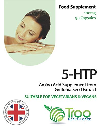 5-HTP 100mg - Natural Amino Acid 5-Hydroxytryptophan 90 Capsules: Amazon.es: Electrónica