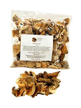 - Dried Oyster Mushrooms - 4 Oz. Bag - Dehydrated Edible Gourmet Pleurotus Ostreatus Fungi