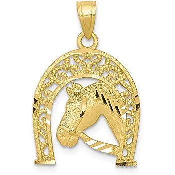 22mm x 5mm Mia Diamonds 14k Yellow Gold Y Casted Medium Diamond-Cut Number 1 Charm