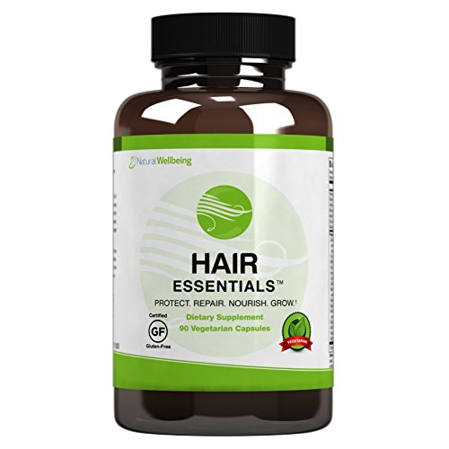 - Hair Essentials Natural Hair Growth Supplement for Women and Men, 90 Count