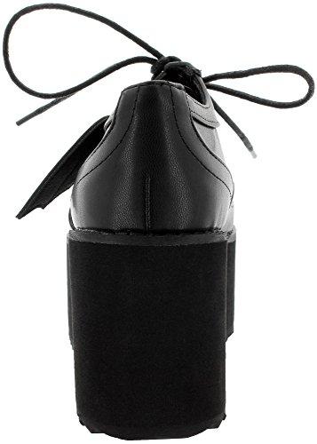 De Femme À Ville Pour Banned Chaussures Noir Lacets 5wxYAg1qn