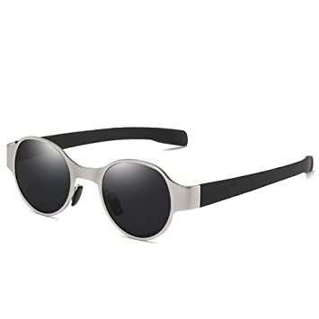 HM2 Gafas de Sol polarizadas, Punk Metal Round Retro UV 400 ...