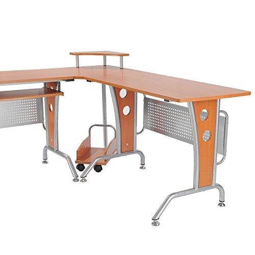 modern lshaped office workstation computer desk kitchen u0026 dining - Modern Computer Desk