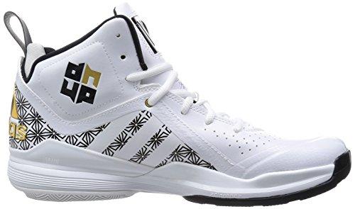 Adidas D Howard 5 Zapatilla de Baloncesto Caballero Blanco/Negro/Oro