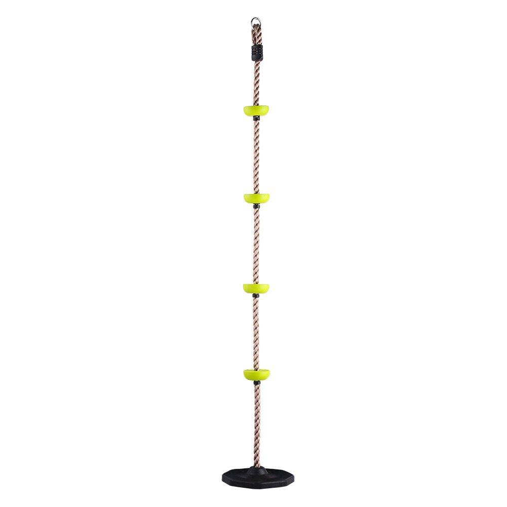 Pellor Neu Kinder Körperliche Ausbildung Fitness Swing Kletterseil Kunststoff Knoten PE Seil Kinder Sport Spielzeug Combo Set (Grün mit Basis)
