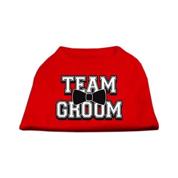 Mirage Pet Products 20-Inch Team Groom Screen Print Shirt for Pets, 3X-Large, Red 1