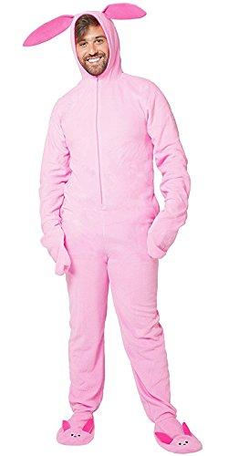Christmas Story Bunny Outfit - Christmas Story Men's Deranged Bunny Pajamas,