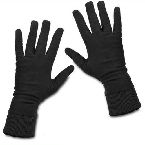 [Excellent 100% High quality Pure Silk with Nylon Keep Warm Winter Breathable Gloves (Size: M )] (Nylon Glove Liners)