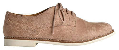 Lusthave Dames Cooper Lace Up Oxfords Flats Sneakers Mauve Imsu
