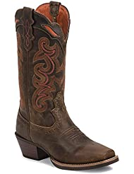 Justin Womens Silver Collection Light Coffee Waxy Cowgirl Boot Square Toe - Svl7319