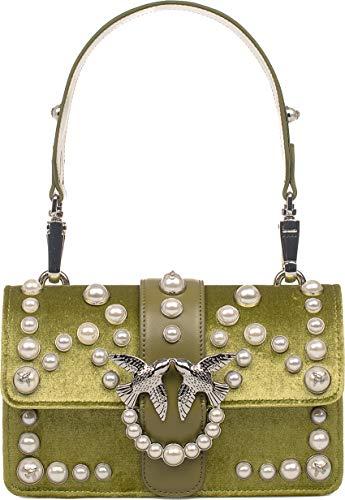 Love U93 Velvet Pinko Bag 1p216ly4yc Pearls Mini qAnf1RH