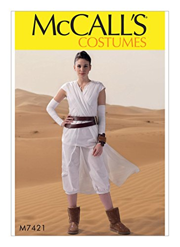 [McCall Pattern Company M7421 Misses Criss-Cross Tabard, Top, Cropped Pants, Gauntlets, Belt and Cuff, Size Miss (Sml-Med-Lrg-Xlg)] (Rey Costume Pattern)