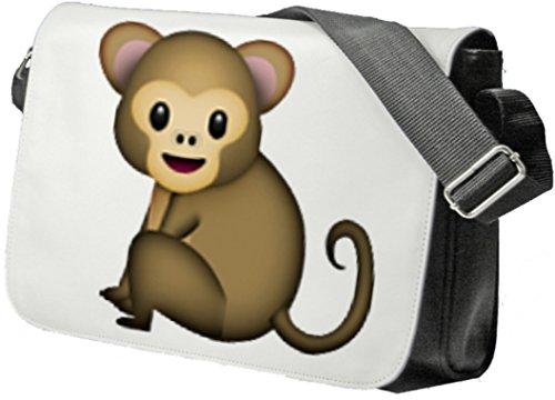 """Schultertasche """"Affe"""" Schultasche, Sidebag, Handtasche, Sporttasche, Fitness, Rucksack, Emoji, Smiley"""