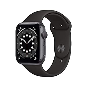 New AppleWatch Series 6 (GPS, 44mm) – Space Gray Aluminum Case with Black Sport Band