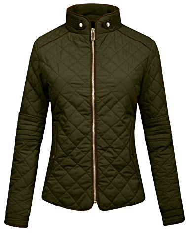 J. LOVNY Womens Lightweight Quilted Warm Zip Jacket/Vest with Pocket Details by J. LOVNY