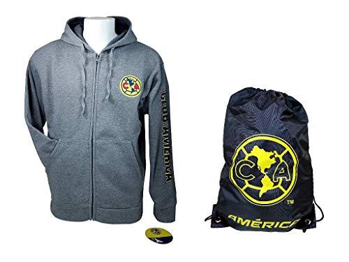 Club 2 Jacket (Club America Official Soccer Hoodie Jacket Set 2 Items Adult 01-1 XL)