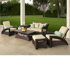 Amazon Com Delivered Pacific 6 Pc Deep Seating Collection Includes