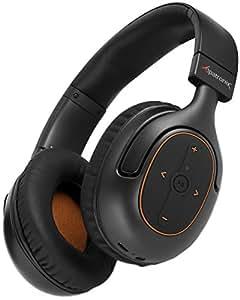 Bluetooth Headphones, Alpatronix [HX101] Universal HD Noise Isolating Wireless Stereo Headset with Built-in Mic, Volume/Playback Controls, AptX, CVC 6.0, BT 4.1 [30+ Hrs. of Playback Time] - (Black)