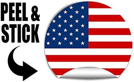 Labe Dive Diver American Vinyl Spartan Helmet Shaped Distressed Scuba Flag Sticker