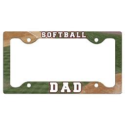 Softball License Plate Holder Softball Dad